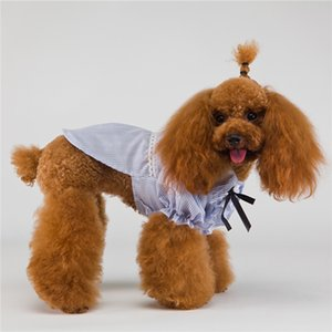 Pet Straps T Shirts Pet Dog Ruffle Shirt Tops blouse Summer Pet Dog Clothes will and sandy Drop Ship