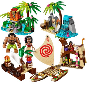 515Pcs Ocean Voyage Restore The Heart Of Te Fiti Set Building Blocks Maui Toys Compatible with lepines Friends 1008 1020