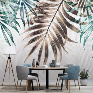 Custom Any Size Mural Wallpaper 3D Hand Painted Watercolor Leaf Wall Painting Living Room TV Sofa Bedroom Papel De Parede Sala