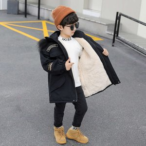 Boys' 2020 new foreign style coat winter wear medium and long down cotton padded clothes overcome the