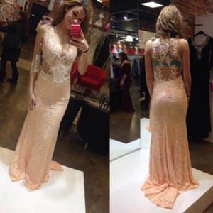 Deep V Neck Sleeveless Prom Dresses with Lace Applique Sexy Back Vestidos De Novia Long Maid of Honor Bride Gowns