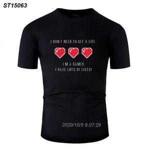 Личность I Dont Need To Get A Life Футболка Человек Cotton Outfit Comic Мужчины Tshirts O-образным вырезом мужские Завышение S-5XL 615510