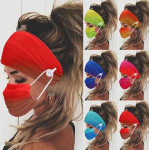 Hair Band with Mask Women Headband Head Wrap Hair Bands Unisex Running Elastic Hair Band Headwear