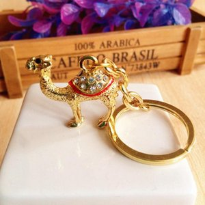 Key Chain Animals Egypt Camel Keyring Jewelry Bag Keychains for Car Woman Men Key Ring Holder Best Gifts Bag Keyring Holder
