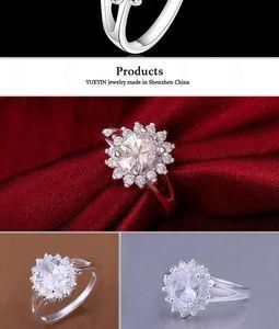 Cubic Zirconia Diamond Engagement Ring 925 Sterling Silver Rings Gemstone Rings