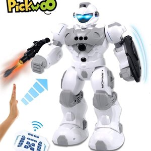 PickWoo versión actualizada RC Robot Gesto inteligente Control remoto Inteligente Singing Dancing Robot recargable multifuncional 201211