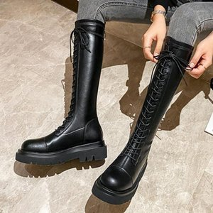 RIBETRINI New Arrivals Brand Design Quality Chic Shoes Boots Women Square Heels Platform Casual Riding Boot Female1