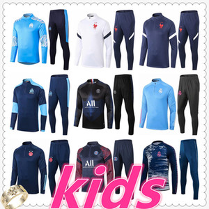 chandal real madrid psg jordan france marseille ajax barcelona kids football tracksuit 20 21 chandal futbol chándal de fútbol soccer chandal niño