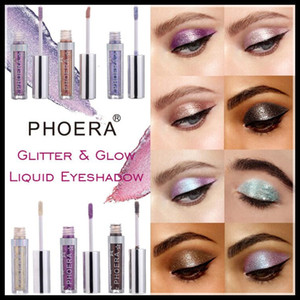 STOCK PHOERA 18Colors Liquid Glitter Glow Eyeshadow Highlighter Waterproof And Long-Lasting DHL Shipping STOCK HIGH QUALITY