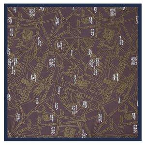 LESIDA шелковый шарф женщина Letters Printed площади шарфов Luxury банданы Малый Хиджаб Foulards Lady Tie оголовье 53x53CM