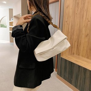 Female For PU Leather Shoulder Bags Female Women 2021 Top-Handle Crossbody Purse Chain Handbags Bag Luxury Thick New Travel Bags Idetd