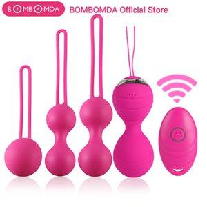 5pcs serratura vaginale esercizio fisico Balloni Balls 10 Velocità uova vibranti Silicone Ben Wa Ball G Spot Vibratore Giocattolo sesso erotico per le donne
