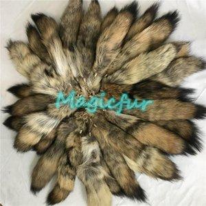 1 Los Pelzschwanz Bush Wolf Coyote Tail Real Pelz Keychain Quaste Tasche Charm Schlüsselanhänger1