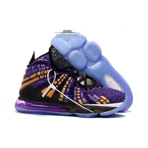 17s Newest High Ghost James Quality 17 Ashes Basketball Shoes Black White Laker Purple Mens Sneakers King Trainer Luxury Sports Shoe