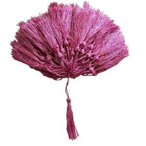 100pcs Lot 32 Couleurs Tassel Silk Fringe Pompom Garnitures Décoratifs pour cordons de rideaux à coudre Vêtements Accueil Décoration Accessoires H WMTCJB