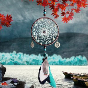 Vintage Enchanted Forest Dreamcatcher Handmade Dream Catcher Net With Feather Home Decoration Ornament & Wall Hanging