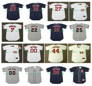 Vintage California Jerseys Tim Salmon Mike Trout Bo Jackson Albert Pujols Reggie Jackson Jim Abbott Buck Rodgers Asta Carew Alomar baseball