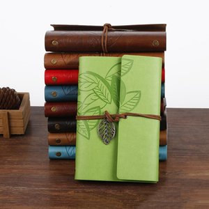 Retro Design Leather Notebooks Personal Diary Journals Agenda Kraft Paper Sketchbook New Fashion Handmade Travel Notebook Gift Lxl385