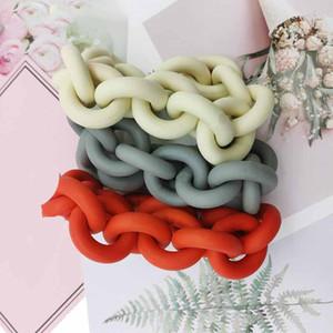Handcrafted Multicolor браслеты Rubber ювелирные изделия для женщин 4 лет Бренд магазин Арт Дизайнеры Pulsera Цепной браслет