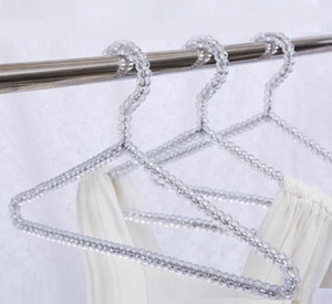 Fashion Acrylic Beads Hanger Women Clothing Skirts Dress Display Lady Clothes Crystal Hangers Free Shipping