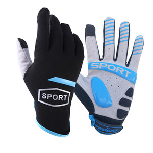 Spring Autumn Full Finger Touch Screen Bicycle Gloves MTB Sport Shockproof Cycling Gloves GEL Liquid Shock Bike Gloves