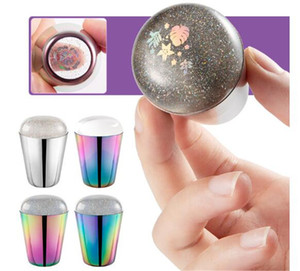 Holographic Nail Stamper for Stamping Plate Holo Clear Jelly Silicone Head Nail Art Templates Tool