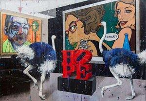 Angelo Accardi une conversation entre artistes Home Décor peint à la main huile d'impression HD Peinture Sur Toile Art mur toile Photos 201003