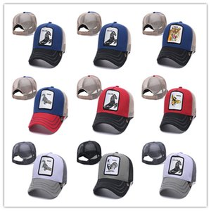 New Designer Trucker Hat Snapbacks Caps Animal Embroidery Curved Mesh Baseball Cap For Adults Mens Womens Adjustable Sun Visor Wholesale