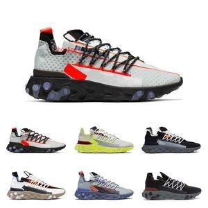Hot sale arrival React WR ISPA men women running shoes Ghost Aqua Pure Plati Platinum Volt Summit White fashion sports sneakers size 36-45