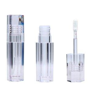 100pcs 6.8ML hexagonal Empty Lipstick Tubes hexagon Transparent Lip Gloss Tubes Wand Tubes Clear bottles SN3439