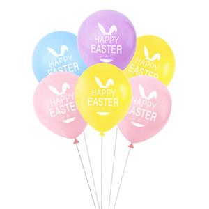 Ballon de dessin animé de lapin Happy Pâques Latex Balloon Theme Party Enfants Anniversaire Partie de fête Décoration Bunny Air Ballons GWD4389