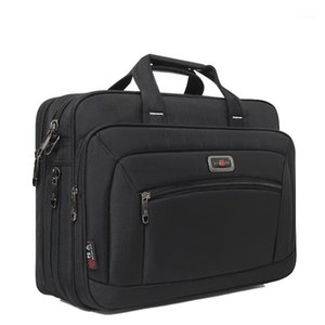 Men Oxford Fabric Waterproof Business Briefcase Black Laptop Notebook Case Large Capacity Men Bag Document Bag1