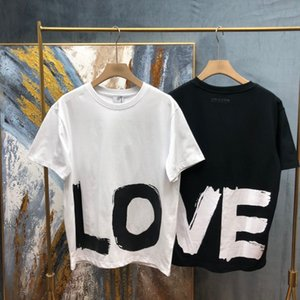 Europe England london Spring Summer LOVE Graffiti Print cotton Tee Men t shirt Women Casual Tshirt