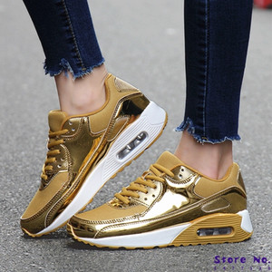 High Quality Women Sneakers Golden Lovers run Shoes PU+Mesh Breathable Air Cushion Women Sport Shoes footwears Size 36-46