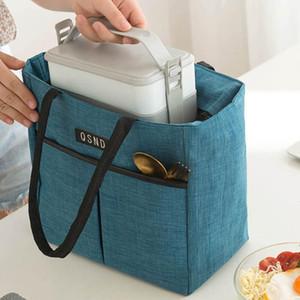 Tragbare Lunch-Tasche Neue Wärmedämmte Lunchbox Tote Cooler Handtasche Bento Beutel Abendessen Container Schule Aufbewahrungstaschen