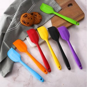 Kitchen Silicone Cream Butter Cake Spatula Mixing Batter Scraper Brush Butter Mixer Cake Brushes Baking Tool YYA59-2