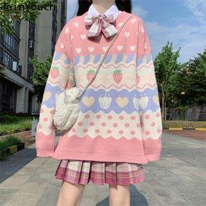 Joinyouth Mujeres de punto Moda Sujetadores Jerseys Coreano Casual Swee Sleater Weater Knitwear Lindo Outdoor Outwear Dulce Jumper Tops 201222