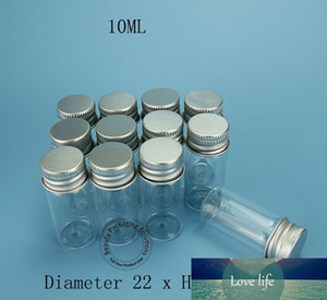 24pcs lot Promotion 10g Empty Makeup Tool 10ml Glass Sample Bottle with Aluminium Cap 1 3OZ Cosmetic Pot Refillable Jar
