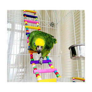 Colored Bird Ladder Parrot Swings Bird Toys Cage Accessories For Cockatiel Conure Parakeet Small Macaw 80Cm 7Kdpk