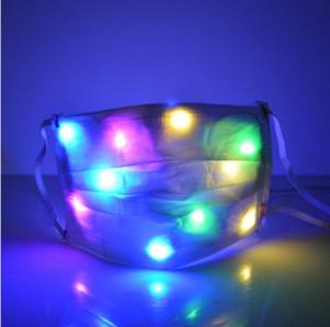 Incandescente LED Light Masks locale notturno luminoso Bocca copertura maschere Light Up metà volto copertina Bocca Disco Party Fashion Design maschere LSK1548