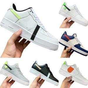 С коробкой 2020 AF1 Кожа Low Cut Вышитые скейтборд обуви Оригинал AF1 противоскользящие резиновые Встроенный Увеличить Air Демпфирование Спортивная обувь
