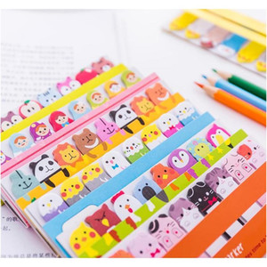 Kawaii Memo Pad Bookmarks Creative Lindo Animal Pegajoso Notas Índice Publicado Planificador Papelería Suministros Escolares Papel Pegatinas CPPXY