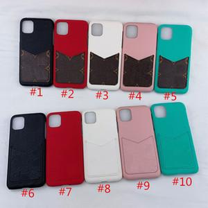 Housse en cuir pour iPhone 11 Pro MAX Xr X Xs MAX 7 8 Plus 6 6S embossé Cases Mode dur Phone Housse Shell