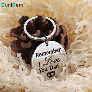 Ricordate i Padri Love You Brithday Day regalo di compleanno papà portachiavi di Keychain Present auto chiave Accessori Portachiavi per gli uomini