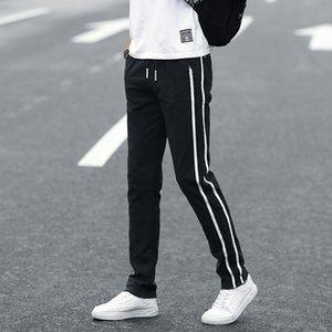 Binhiiro Yaz erkek pantolon ince bölüm nefes rahat rahat pantolon erkekler ince karışık pamuk koşu spor pantolon erkek K60 201226
