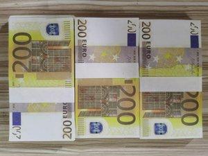 11 Venta caliente 100 paquetes de accesorios mágicos Simulación de monedas 200 Euro Spray Pistola Euro juego Magic Bar Props