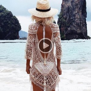 Kv5s summer women Mesh er hasta ganchillo de punto sexy playa camisetas traje de baño bikini envoltura traje de baño
