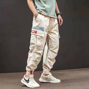 2020 Spring Autumn Cargo Pants Men's Ankle Banded Harem Pants Loose Casual Trousers Male Sweatpants Hip Hop Clothing Joggers Men