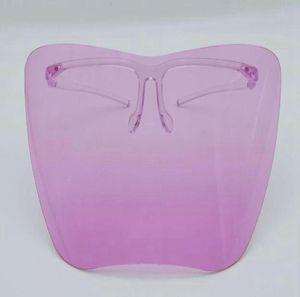 Clear Glass Face Shield Full Face Plastic Protective Mask Colorido Anti-Fog Anti-Fog Splash Splash Safty Funda Faceshield GGA3799-2