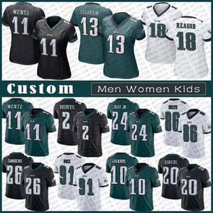 11 كارسون ينتز فيلادلفياالنسر الرجال مخصص للنساء كيد كرة القدم جيرسي 13 ترافيس Fulgham 18 جالين Reagor 2 جالين يسىء 26 ميل ساندرز